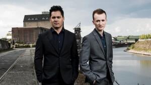 Konstantin Reinfeld, Benny Nuss, Mundharmonikerspieler, Pianist, Musiker, Neuss, 27.04.2017, pictures taken by Stephan Pick